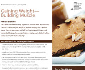 Gaining Weight Building Muscle