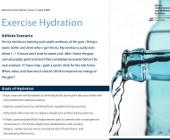 Exercise Hydration
