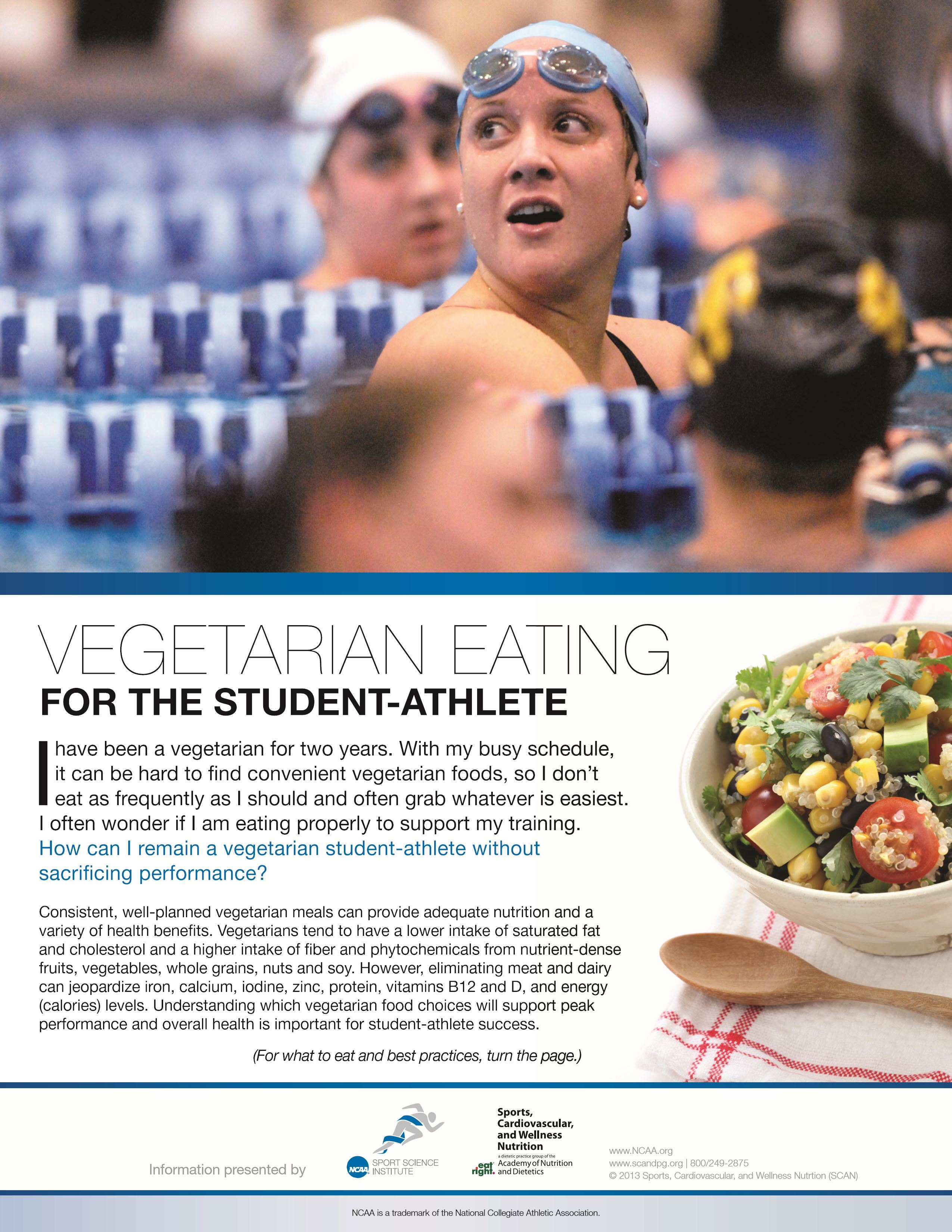 Vegetarian eating_NCAA fact sheet