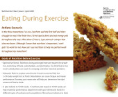Eating During Exercise